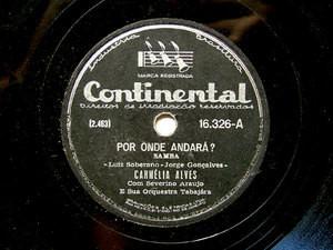 CARMELIA ALVES Continental 16326 BRAZIL 78rpm MARIA POU
