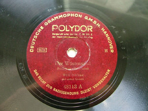 WILL HOHNE guitar DG POLYDOR 48113 10'' 78rpm