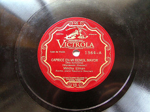M. ELMAN Arg Scr VICTROLA 1364 VIOLIN 78rpm VOCALISE