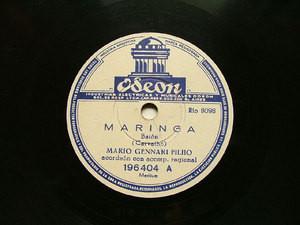M. GENNARI FILHO Arg ODEON 196404 BRAZIL 78rpm MARINGA
