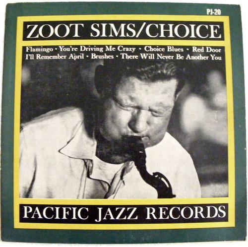 "ZOOT SIMS ""Choice"" PACIFIC JAZZ 20 Argentina MONO LP"