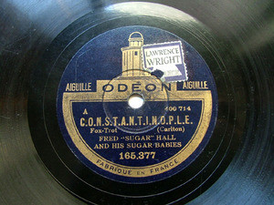 "FRED""SUGAR"" HALL Odeon 165377 JAZZ 78rpm CHILLY POM POM"