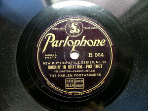 FOOTWARMERS / VENUTI Parlophone 924 JAZZ 78rpm ROCKIN' IN RHYTHM