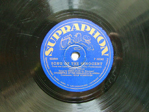 ERNA SACK Supraphon F22342 OPERA 78rpm LAUGHING SONG