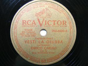 E. CARUSO Rare Arg VICTOR 7666000 OPERA 78rpm FLOTOW