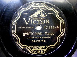ALBERTO VILA Scr VICTOR 47133 TANGO 78rpm VICTORIA / MANOS BRUJAS NM