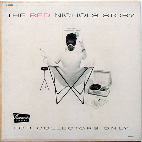 THE RED NICHOLS STORY Brunswick BL-54008 JAZZ Argentina LP EX/EX