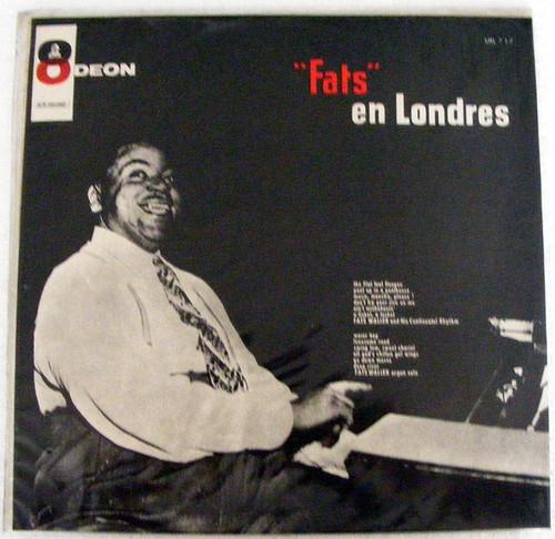 Rare FATS WALLER Fats en Londres ODEON 717 Uruguay LP NM/EX