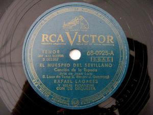 RAFAEL LAGARES Victor 68-0925 SPANISH 78rpm LOS GAVILANES