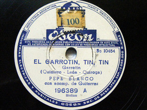 PEPE BLANCO y CARMEN MORELL Odeon 196389 Spanish 78rpm