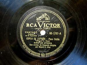 NINO DE UTRERA Victor 60-1797 78rpm COPLA DE ESPAÑA