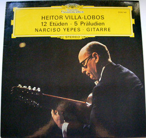 NARCISO YEPES dg 2530 140 VILLALOBOS 12 Etuden LP NM