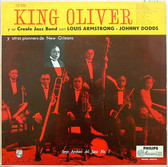 KING OLIVER with ARMSTRONG & DODDS Philips 3208 Arg LP