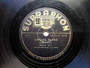 GRAEME BELL Supraphon 18164 JAZZ 78rp DALLAS BLUES