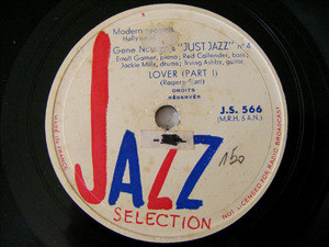 GENE NORMAN Presents ERROL GARNER JS 566 78rpm LOVER