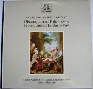 ESTERHAZY QTET Telefunken 642173 MOZART Oboe,Horn LP NM