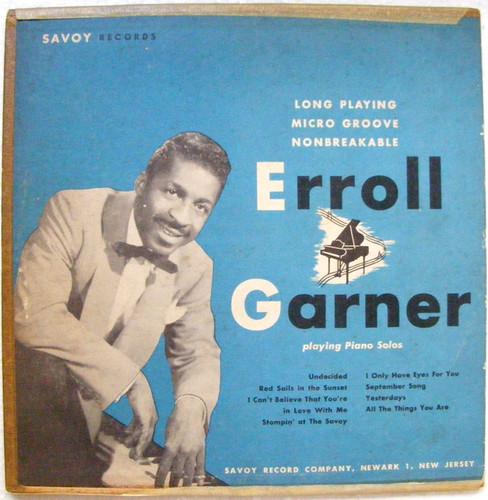 """ERROL GARNER Piano Solos SAVOY MS-1003 10"""" LP"""