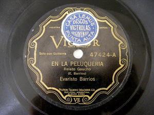 E. BARRIOS Scr VICTOR 47424 GUITAR 78rpmPELUQUERIA