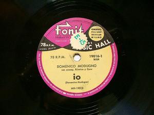 DOMENICO MODUGNO Fonit 19016 ITALIAN 78rpm IO