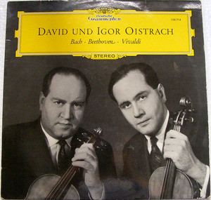 DAVID & IGOR OISTRACH DGG 138714 BEETHOVEN LP NM