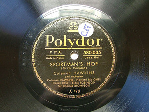 COLEMAN HAWKINS Polydor 580035 78rpm READY FOR LOVE