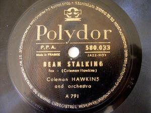 COLEMAN HAWKINS Polydor 580033 78rpm BEAN STALKING