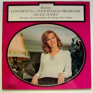 CECIL OUSSET & KURT MASUR Decca 7312 BRAHMS No. 2 LP