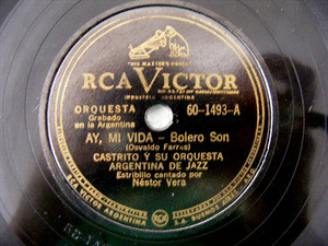 CASTRITO Victor 60-1493 JAZZ 78rpm MY FRIEND SAM