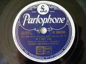 BENNY GOODMAN Parlophone 2838 78rpm LIMEHOUSE BLUES