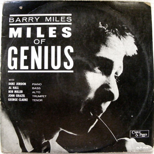 BARRY MILES Miles Of Genius CHARLIE PARKER PLP-804 LP