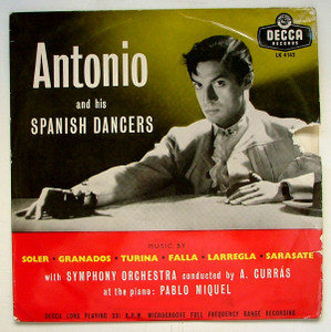 ANTONIO & HIS SPANISH DANCERS Decca LK-4142 FLAMENCO LP