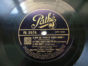 ALAIN ROMANS Pathe 2576 JAZZ 78rpm HOW SOON?
