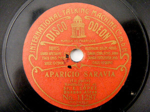 "7"" EUGENIO LOPEZ Brown ODEON 11287/8 78rpm APARICIO SARAVIA"
