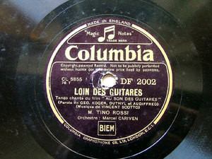 ROSSI & CARIVEN Columbia DF 2002 FRENCH 78rpm GUITARES