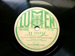 GERMAINE CERNAY & GEBRON Lumen 30085 French OPERA 78rpm