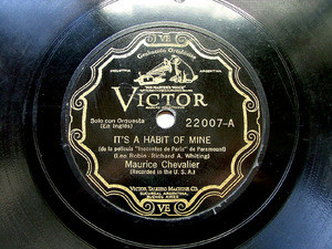 M. CHEVALIER Scr VICTOR 22007 FRENCH 78rpm IT'S A HABIT