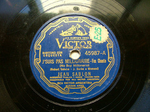 JEAN SABLON scr VICTOR 45987 FRENCH 78rpm PEUT NEIGER