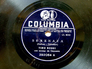 TINO ROSSI Arg COLUMBIA 292064 FRENCH 78rpm SERENATA