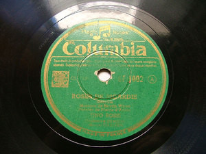 TINO ROSSI & CARIVEN Columbia 1002 FRENCH 78rpm PETITE MAISON GRISE