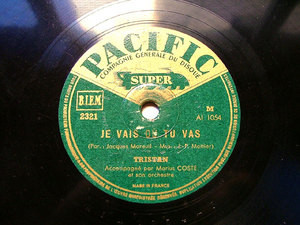 TRISTAN & COSTE Pacific 2321 FRANCE 78rpm J'AIME AUTANT