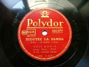 ROSE MANIA & HENRI LECA Polydor 560079 FRANCE 78rpm PAPA, MAMA, SAMBA