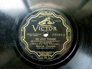 MAURICE CHEVALIER Scr VICTOR 22285 78rpm LOVE PARADE
