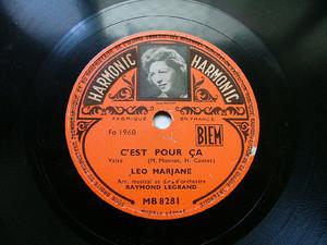 LEO MARJANE Harmonic MB 8281 FRANCE 78rpm C'EST POUR CA