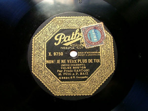 FREDO GARDONI Pathe X.9750 ACCORDEON / BANJO 78rpm