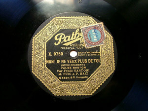 FREDO GARDONI Pathe X.9750 ACCORDEON / BANJO 78rpm