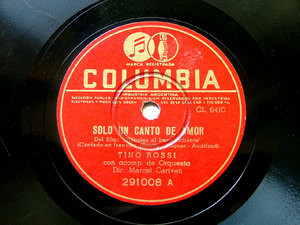 TINO ROSSI Columbia 291008 FRENCH 78rpm MIA PICCOLINA