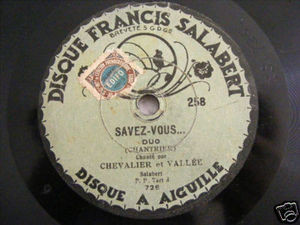 MAURICE CHEVALIER Rare SALABERT 258 78rpm BALNACE-LA