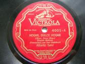 ALBERTO SALVI Victrola 4001 HARP SOLO 78 HOME SWEET HOME / OLD FOLKS AT HOME