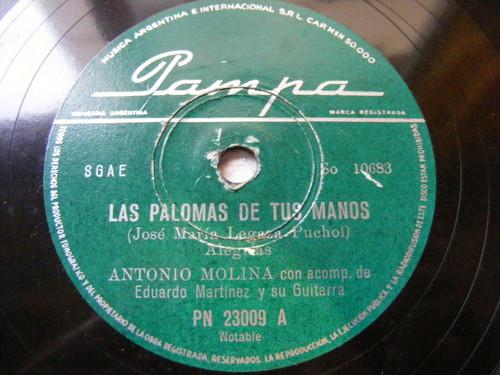 ANTONIO MOLINA PAMPA 23009 RARE ARGENTINA 78 LAS PALOMAS DE TU MANOS / FANDANGUI