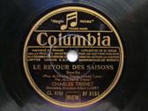 CHARLES TRENET Columbia 3151 FRENCH 78 RETOUR A PARIS / LE RETOUR DES SAISONS